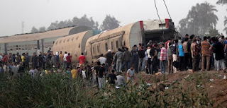 Toukh train accident in Egypt حادث قطار طوخ في مصر