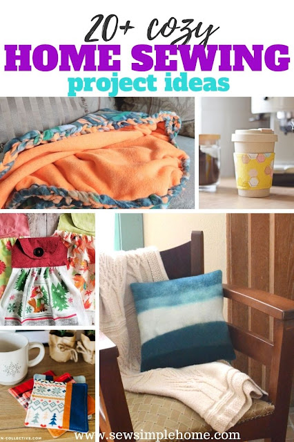 Decorate your home with your own DIY style using these great and easy sewing projects for the home.