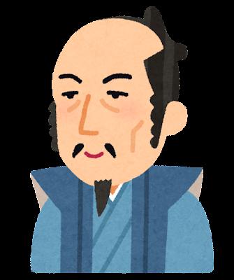 加藤清正の似顔絵イラスト