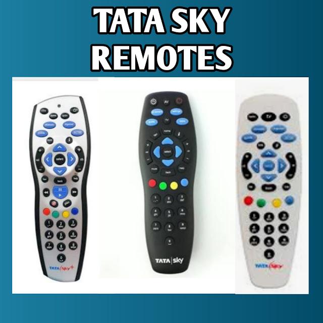 TYPE OF TATA SKY REMOTE
