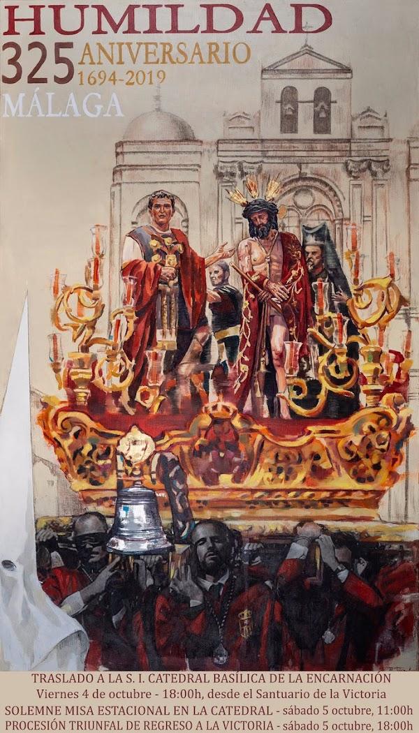 Cartel de los 325 Años del Santísimo Cristo de la Humildad (EcceHomo) de Málaga