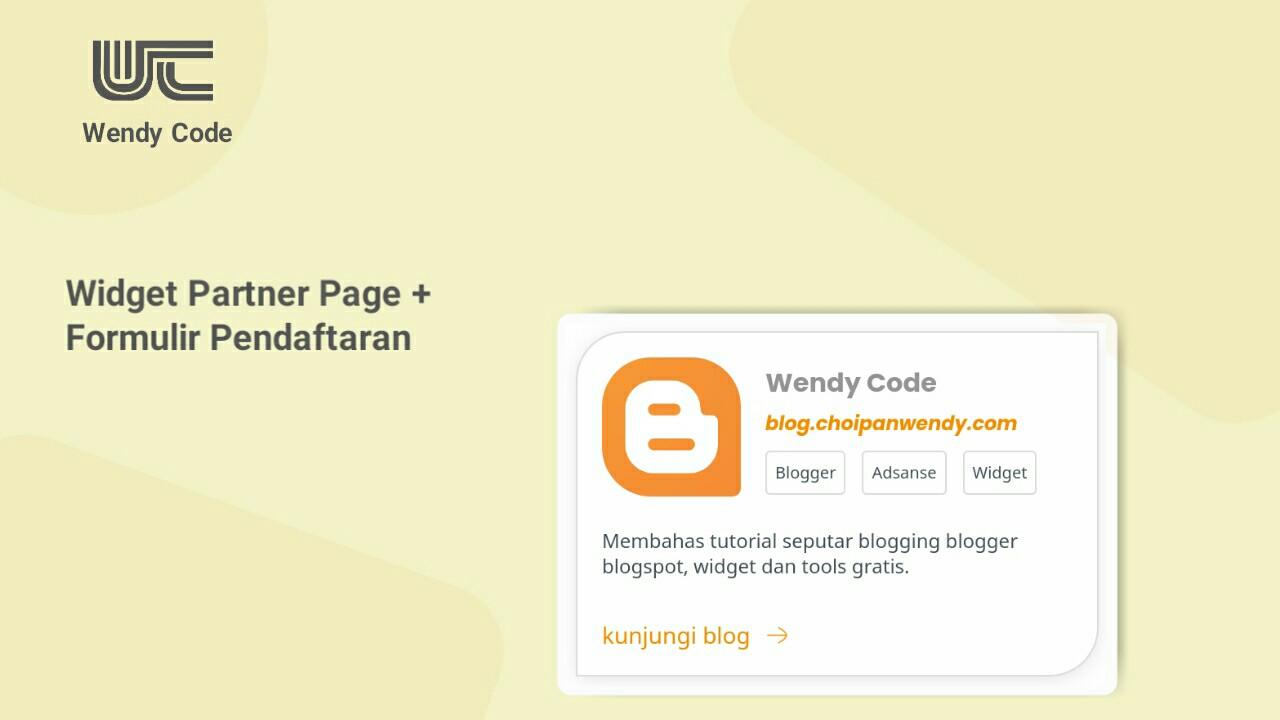 membuat halaman partner di blogger