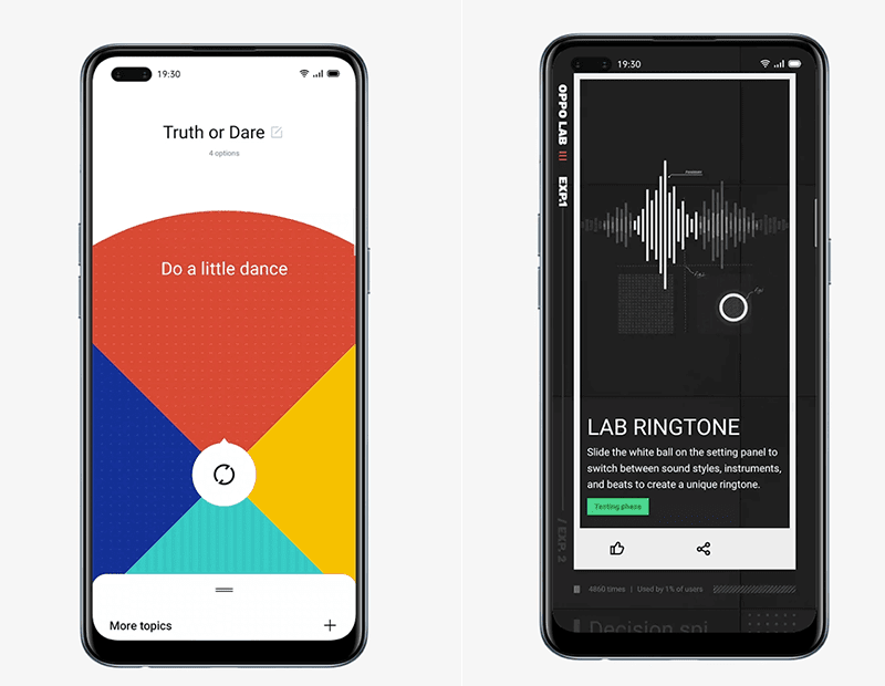 OPPO Decision Spinner and Lab RIngtone