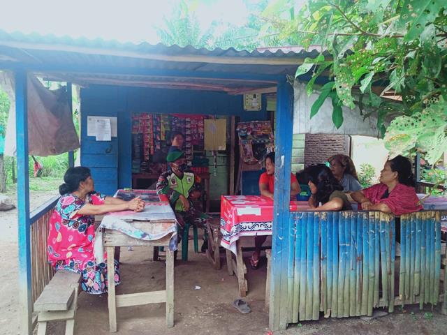 Edukasi Covid-19, Personel Jajaran Kodim 0207/Simalungun Turun Kewilayah Binaan Himbau Warga Patuhi Protokol Kesehatan