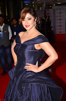 Payal Ghosh aka Harika in Dark Blue Deep Neck Sleeveless Gown at 64th Jio Filmfare Awards South 2017 ~  Exclusive 021.JPG