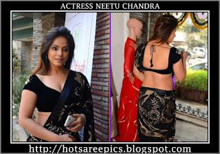 Neetu-Chandra-hot-saree-photos