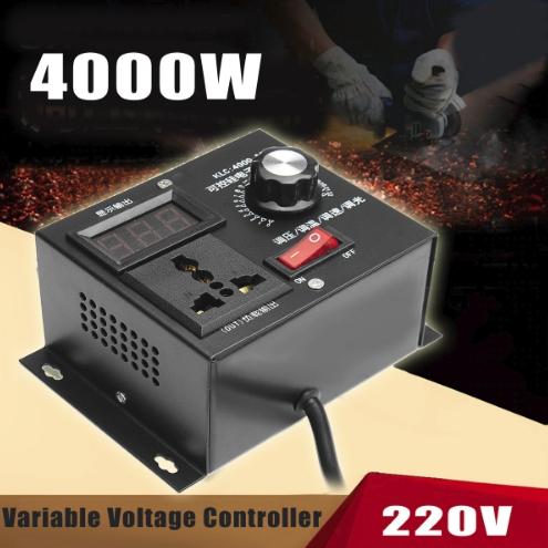 Электронный регулятор контроллер переменного напряжения 220 мощностью 4кВт для управления двигателем, вентилятором, температурой и другими приборами