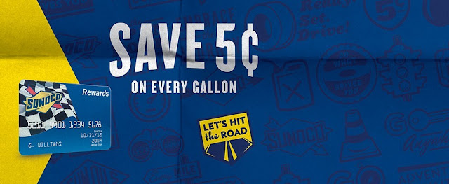 save money with Sunoco gas card