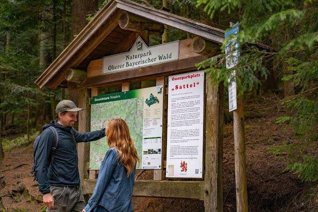 Künischer Grenzweg auf den Osser | Wanderweg La1 im Lamer Winkel | Wandern im Bayerischen Wald | Naturpark Oberer Bayerischer Wald 01