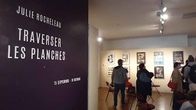 Exposition Julie Rocheleau au festival BD6né