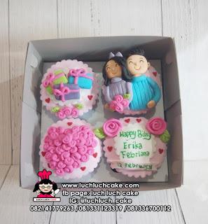 Cupcake Anniversary Fondant 2D