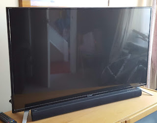 A Picture of our TV and Soundbar