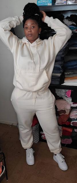 cream ladies loungewear