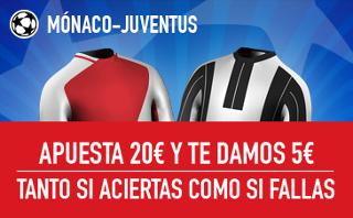 sportium 5 euros ganes o pierdas Mónaco vs Juventus 3 mayo