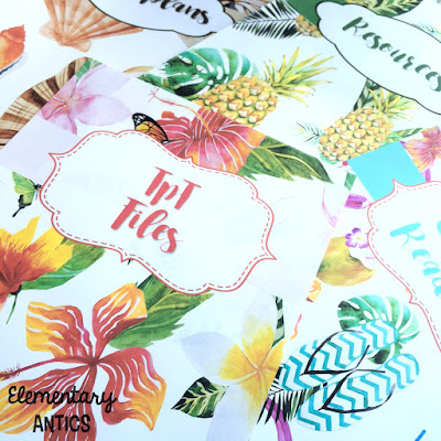 Aloha Binder Covers- beautiful, editable designs to use for all of your home or school binders.