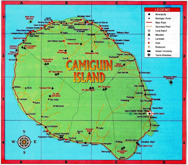 White Island Camiguin Map