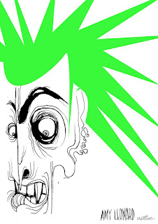 spikey green guy cartoon amy leonard
