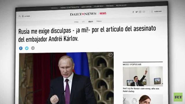 """Un columnista de EE.UU. rechaza pedir disculpas: """"Asesino del embajador ruso no era un terrorista"""""""