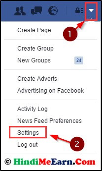 setting pe click kare