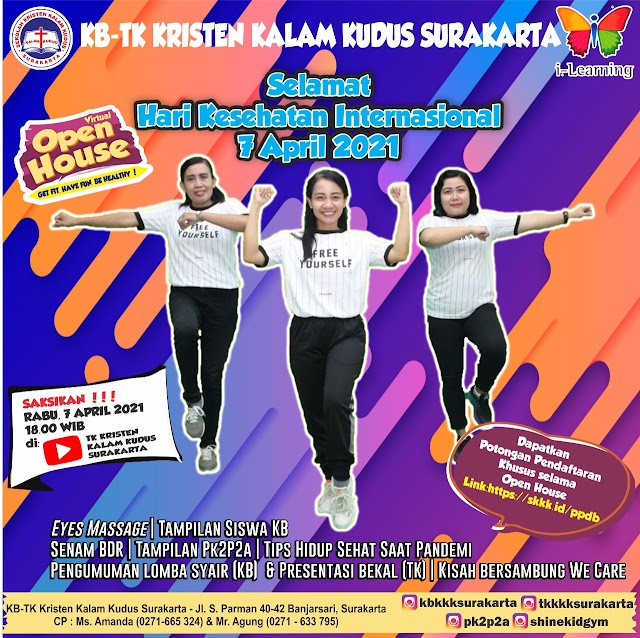 Virtual Open House KB-TK Kristen Kalam Kudus Surakarta - 7 April 2021