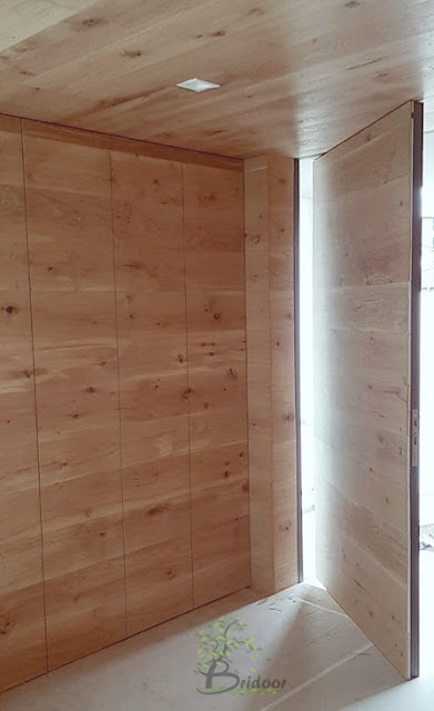 Hall madera roble natural aceitado