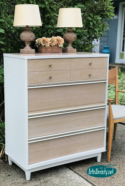 mcm general finishes reverent gray dresser makeover before and after