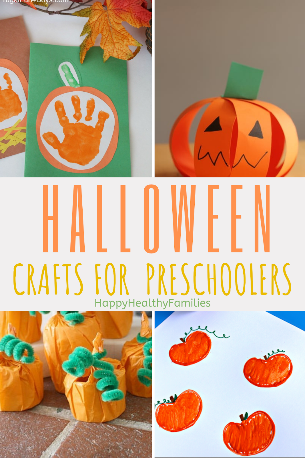 Happy Healthy Families 10 Easy Halloween Crafts For