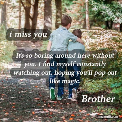 missing you brother