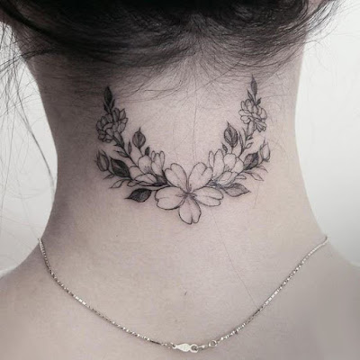 Tatuajes en el cuello femeninos lindos