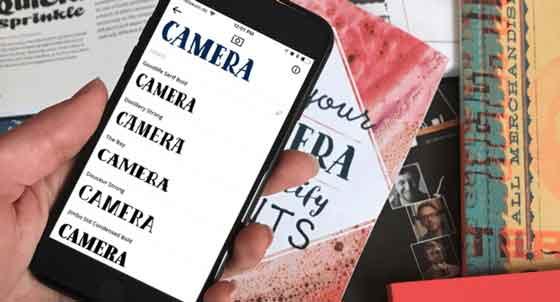 aplikasi pengenal font, objek dan tempat