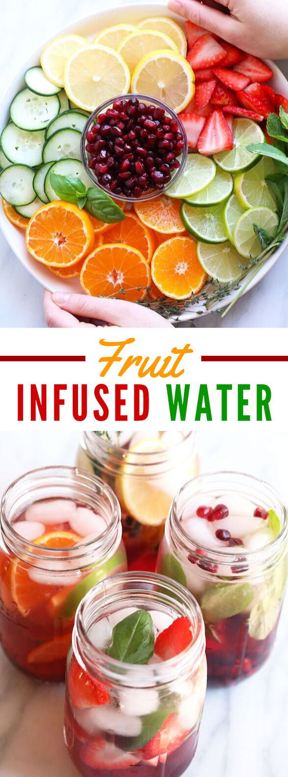 4 FRUIT INFUSED WATER RECIPES #drinks #healthy