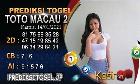 Prediksi Kasir4D Togel Macau Kamis 14 Januari 2021