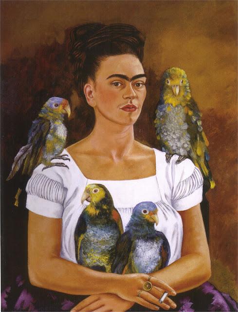 Фрида Кало - Я и мои попугаи. 1941