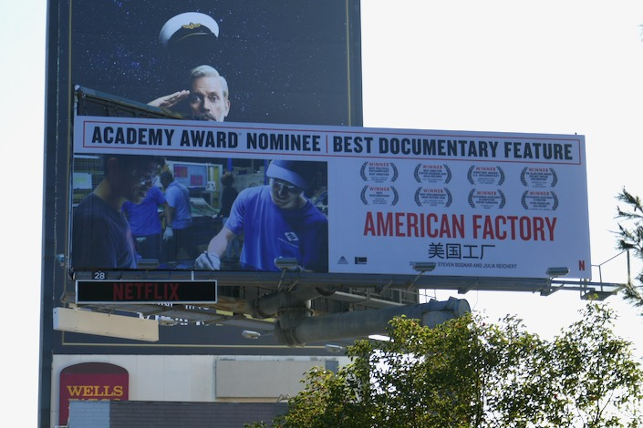 American Factory Oscar nominee billboard