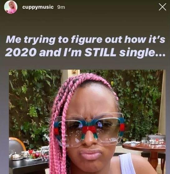 Dj Cuppy wonders why she's still single in 2020