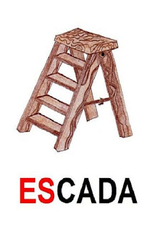 Cartaz sílaba complexa escada