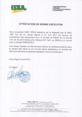 attestation de bonne exécution des travaux, attestation de bonne exécution word, attestation de bonne exécution pdf algerie , attestation de bonne exécution sonatrach,