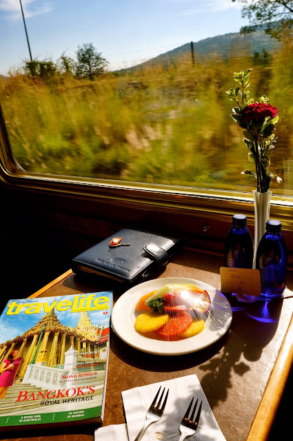 Traveling by luxury train