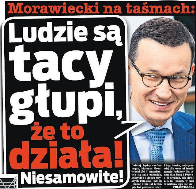 Ludzie są tacy głupi Morawiecki oszust i kłamca