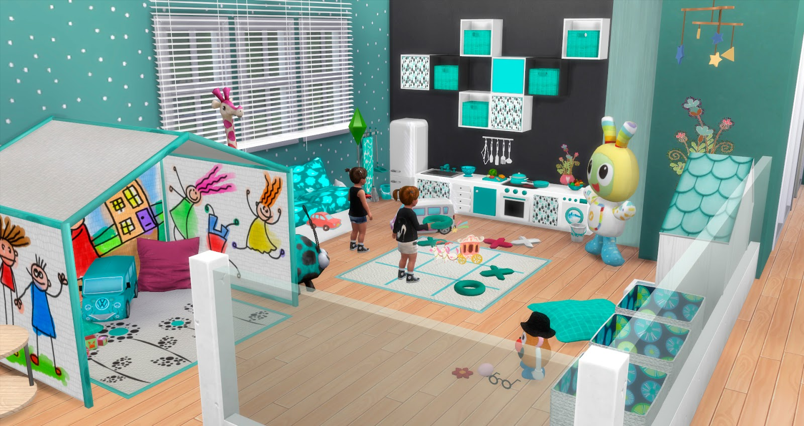 My sims 4 blog toddler playroom by pqsim4 - Cuartos de juego ...
