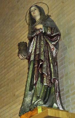 Santa Bárbara de la iglesia de Santa Marina de Mieres
