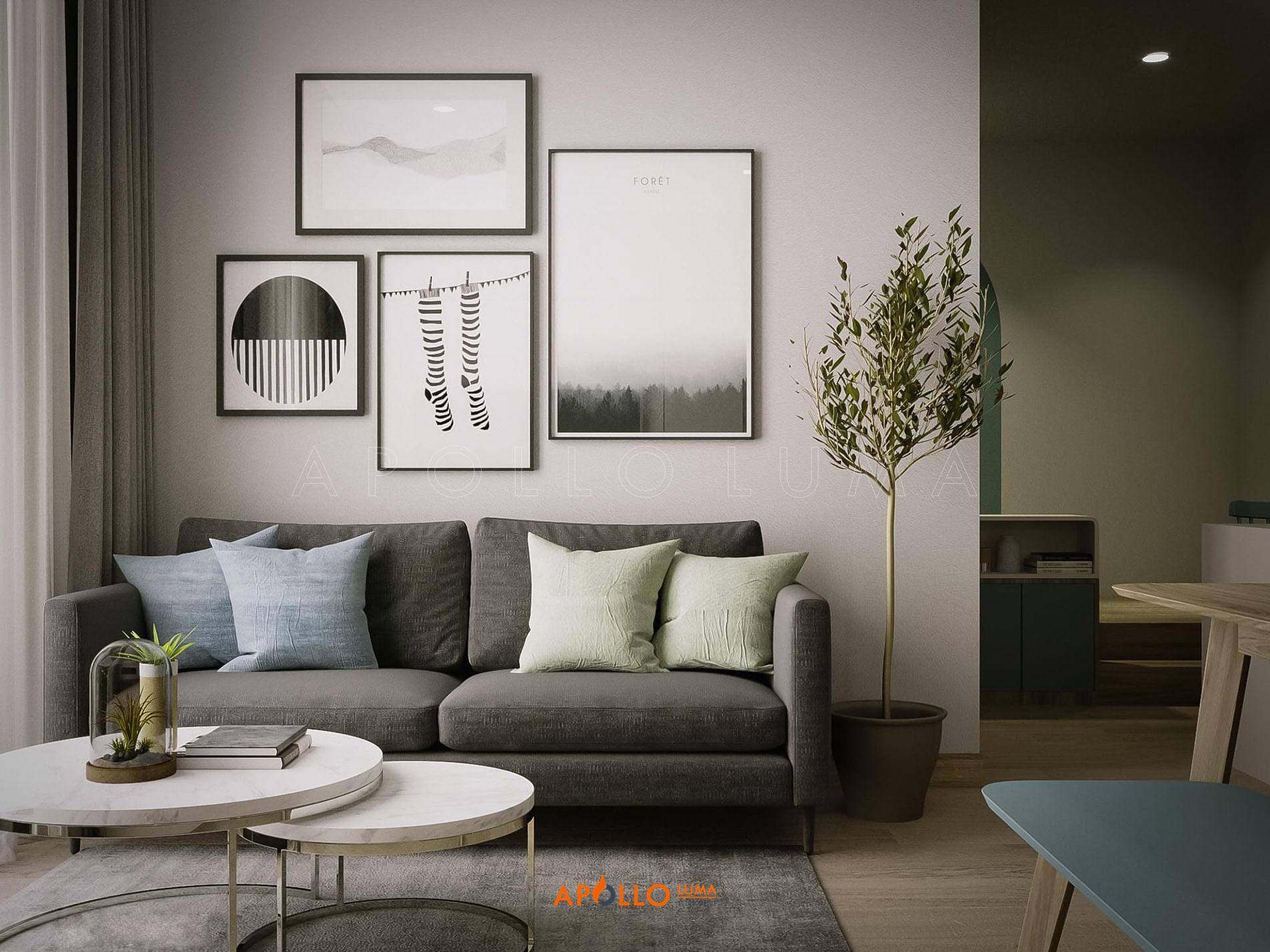 Thiết kế nội thất căn hộ 1 Phòng ngủ + 1 Imperia Smart Citty Tây Mỗ
