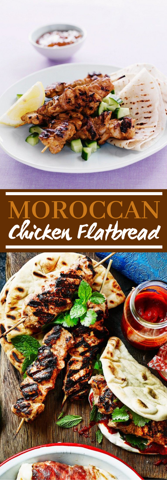 Moroccan Chicken Flatbreads #dinner #lunch