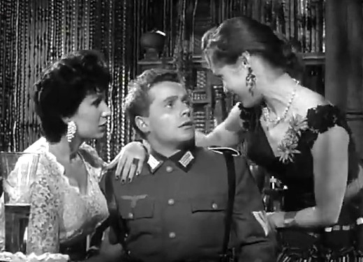 James Kenney as Private Triebel, Seven Thunders, 1957