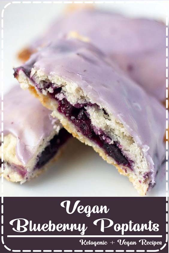 these Vegan Blueberry Poptarts are an easy and healthier alternative to traditional popta Vegan Blueberry Poptarts