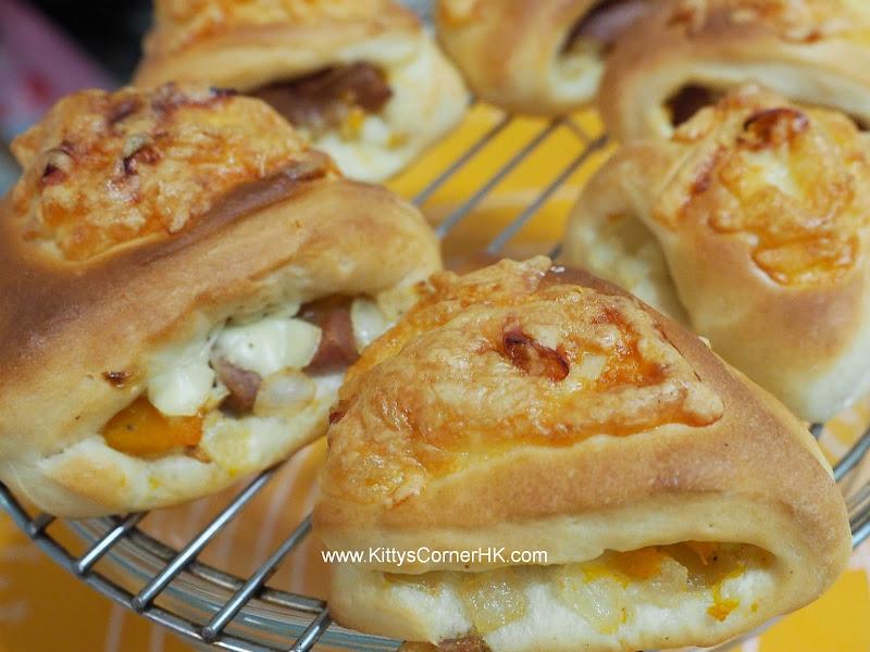 Pumpkin and Cheese Triangles DIY recipe 南瓜芝士三角 自家烘焙食譜