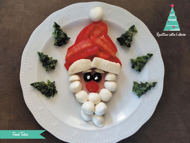 Antipasto creativo natalizio ritratto di Babbo Natale