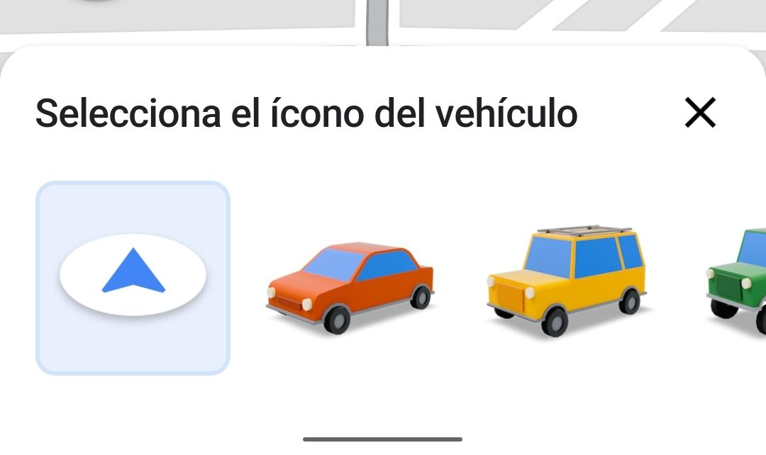 cambiar el icono de navegación de Google Maps