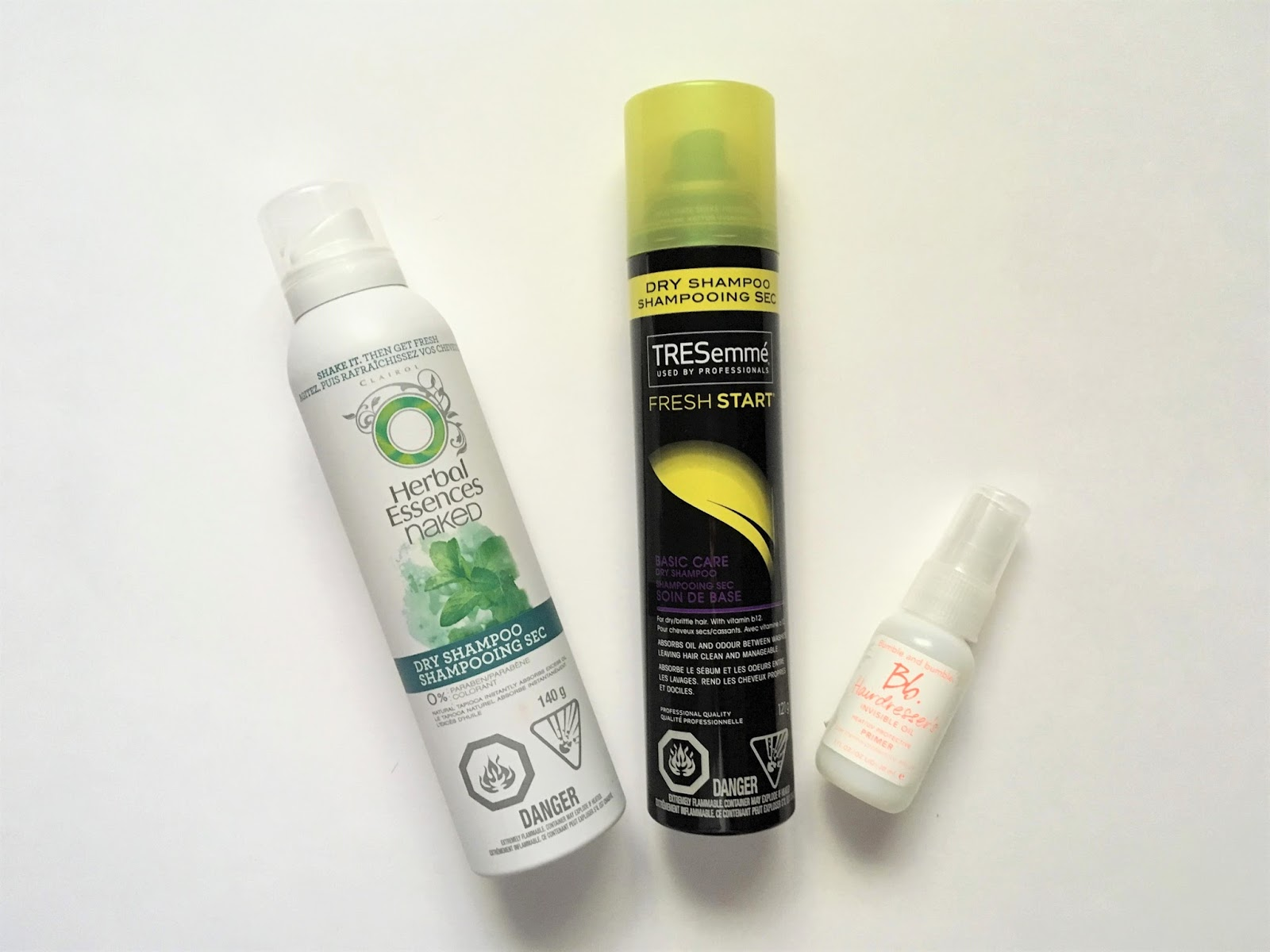 product empties haircare tressemme bumble and bumble