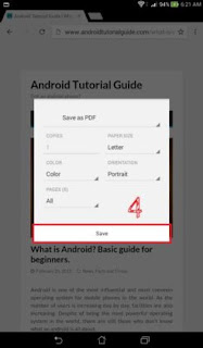 convert web page to PDF in Android